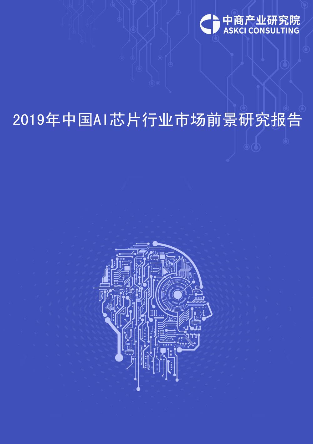 2019年中国人工智能芯片行业市场前景研究报告