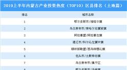 2019上半年内蒙古产业投资热度(TOP10)区县排名:准格尔旗位居榜首(土地篇)