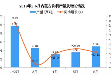 2019年1-6月内蒙古饮料产量为25.87万吨 同比下降15.71%(图)