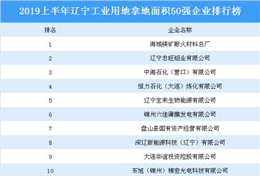 产业地产投资情报:2019上半年辽宁工业用地拿地面积50强企业排行榜