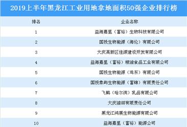 產業地產投資情報:2019上半年黑龍江省工業用地拿地面積50強企業排行榜