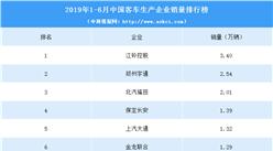 2019年1-6月中国客车生产企业销量排行榜(TOP10)
