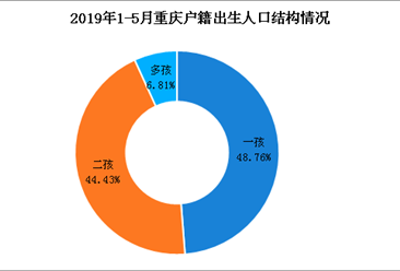 2019年1-5月重庆户籍出生人口数同比减少3万人(图)