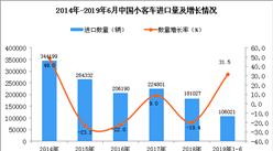 2019年1-6月中国小客车进口量同比增长31.5%