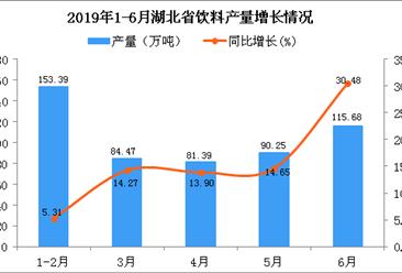2019年上半年湖北省饮料产量为558.16万吨 同比增长21.76%