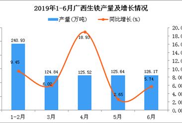 2019年上半年广西生铁产量为743.01万吨 同比增长8.45%