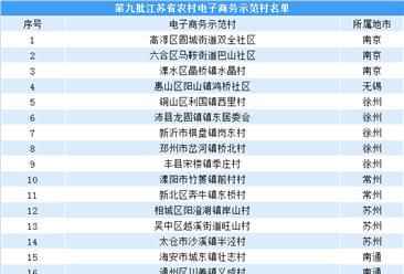 第九批江苏省农村电子商务示范村名单出炉  看看有你的家乡么?(附名单)