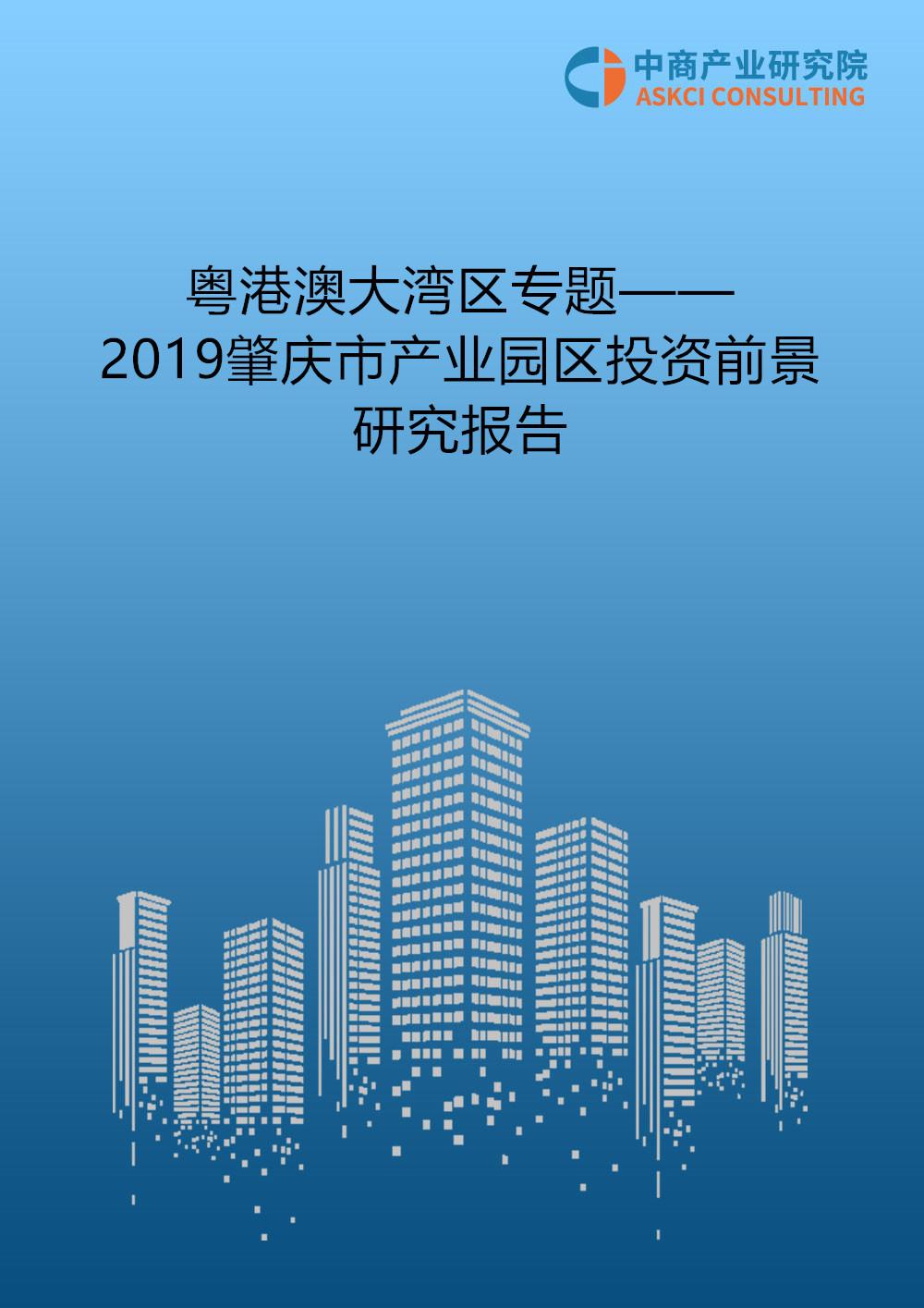 粤港澳大湾区专题——2019肇庆市产业园区投资前景研究报告
