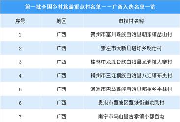 第一批全国乡村旅游重点村名单出炉:广西共11个村庄入选(附图表)