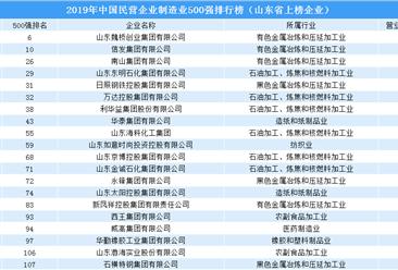2019年中国民营企业制造业500强排行榜(山东省上榜企业名单)