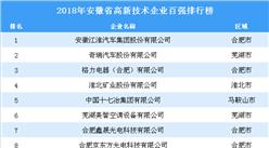 2018年安徽省高新技術企業100強排行榜(全榜單)