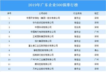 2019年廣東企業500強排行榜