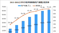 網購市場持續擴張  2019上半年手機網購用戶達6.2億(圖)