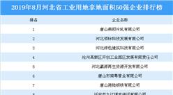 产业地产投资情报:2019年8月河北省工业用地拿地面积50强企业2019年送彩金网站大全榜