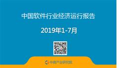 2019年1-7月中国软件行业经济运行报告(附全文)