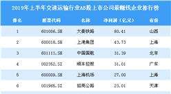 2019年上半年交通运输行业AB股上市公司最赚钱企业排行榜