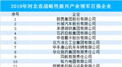 2019年河北省战略性新兴产业领军百强企业名单(附完整名单)
