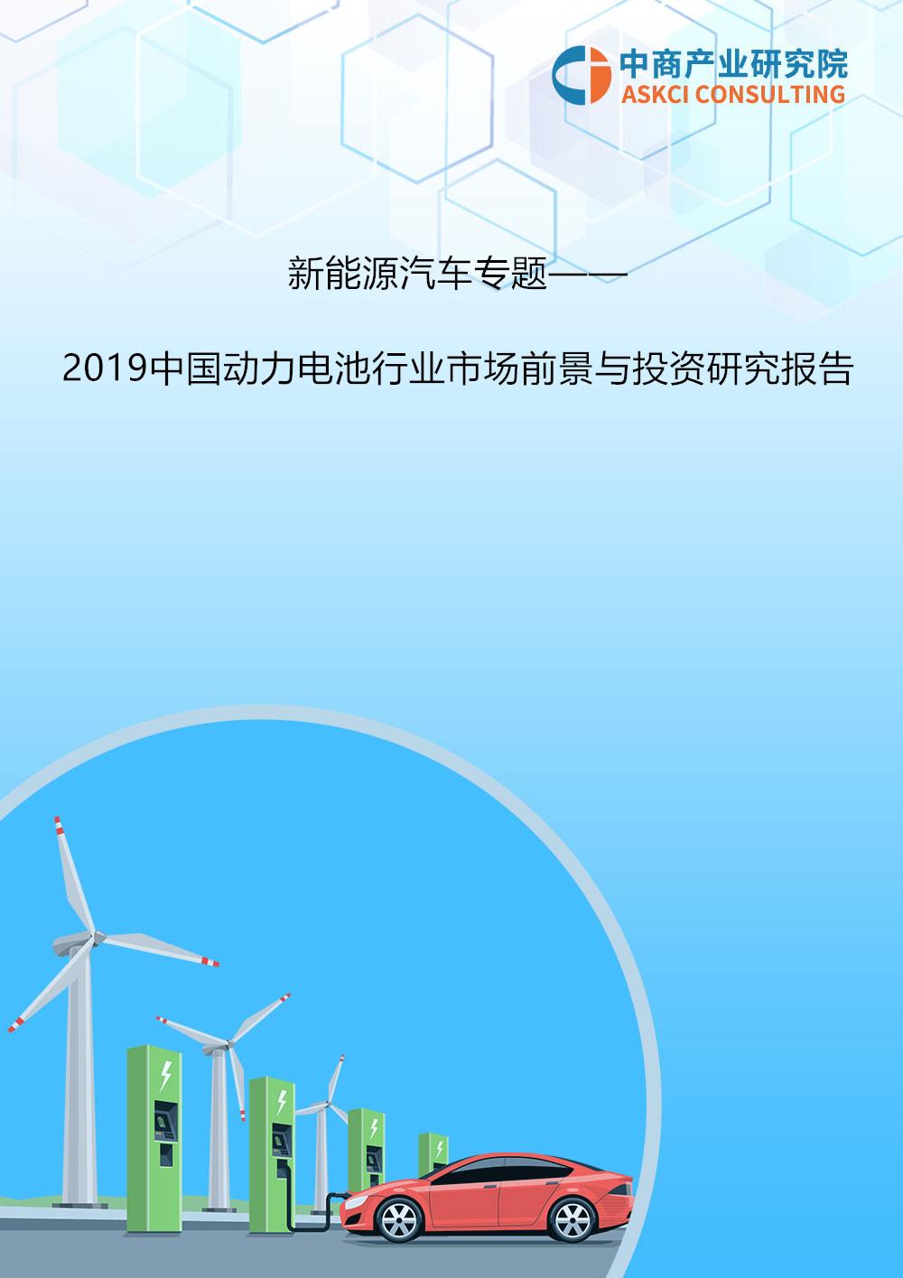 2019年中国动力电池行业市场前景与投资研究报告