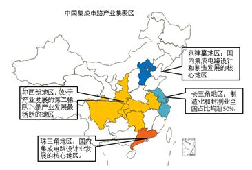 集成电路形成四大聚集区 今年我国集成电路产业规?;虺?700亿(图)