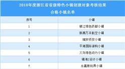浙江省2018年省级特色小镇创建对象合格小镇名单(附表)