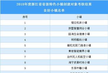 浙江省2018年省級特色小鎮創建對象良好小鎮名單(附表)