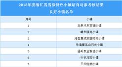 浙江省2018年省级特色小镇培育对象良好小镇名单(附表)