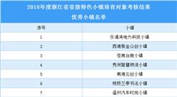 浙江省2018年省级特色小镇培育对象优秀小镇名单(附表)