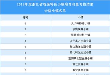 浙江省2018年省级特色小镇培育对象合格小镇名单(附表)