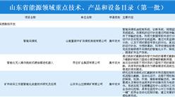 山东省第一批能源领域重点技术、产品和设备目录公布(附详细目录)