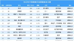 2019年胡润百富榜湖南省上榜企业家排行榜(附完整排名)