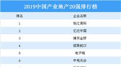 2019中国产业地产20强排行榜:张江高科第一 亿达中国第二(附榜单)