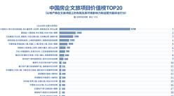 2019年中國房企文旅項目價值榜TOP20:恒大第一 碧桂園第二(附榜單)