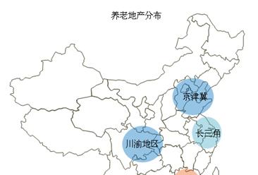 中国养老地产城市分布:集中四大经济圈(图)