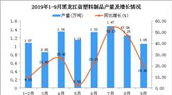 2019年1-3季度黑龙江省塑料制品产量为10.24万吨 同比增长34.38%