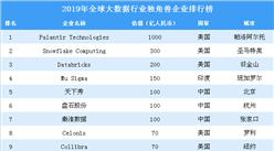 2019年全球大数据行业独角兽企业排行榜
