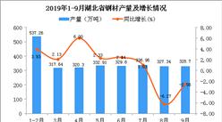 2019年1-9月湖北省鋼材產量及增長情況分析(圖)