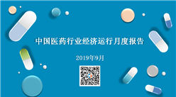 2019年9月中国医药行业经济运行月度报告(全文)