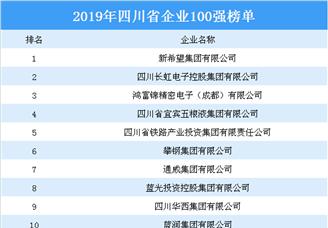 2019年四川省百强企业排行榜