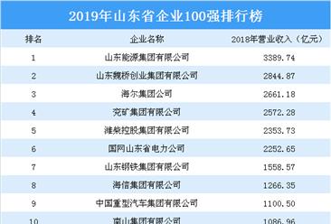 2019年山东省企业100强排行榜