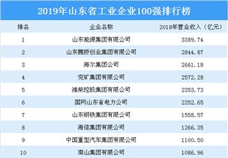 2019年山东省工业企业100强排行榜