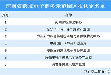河南省跨境电子商务示范园区拟认定名单:河南保税物流中心等7家园区上榜(附名单)