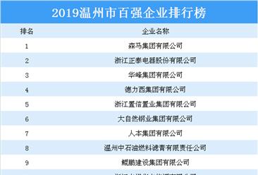 2019温州市百强企业排行榜