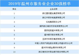 2019年温州市服务业企业30强排行榜