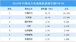 2019年中国动力电池装机量排行榜TOP10:宁德时代占据半壁江山稳居第一(图)
