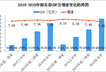 2019年湖北省经济运行情况分析:gdp同比增长7.5%(图)