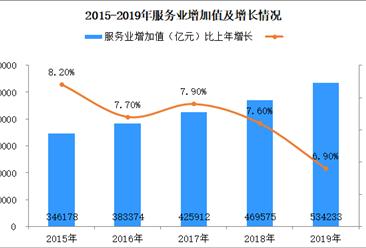 2019年全国服务业运行情况分析:增加值增长6.9% 发展提质增效(附图表)