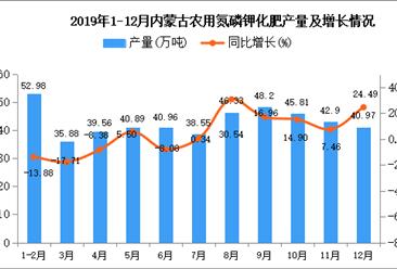 2019年内蒙古农用氮磷钾化肥产量为509.74万吨 同比增长10.95%