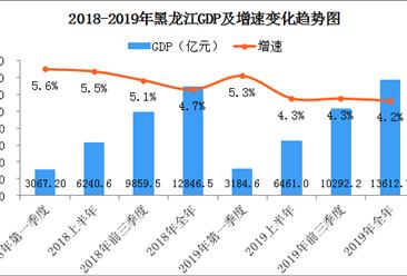 2019年黑龙江经济运行情况分析:gdp同比增长4.2%(附图表)