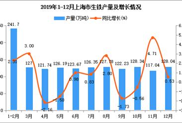 2019年上海市生铁产量同比增长0.9%