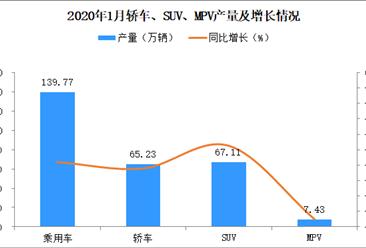 2020年1月乘用车产量139.77万辆:同比下滑29%